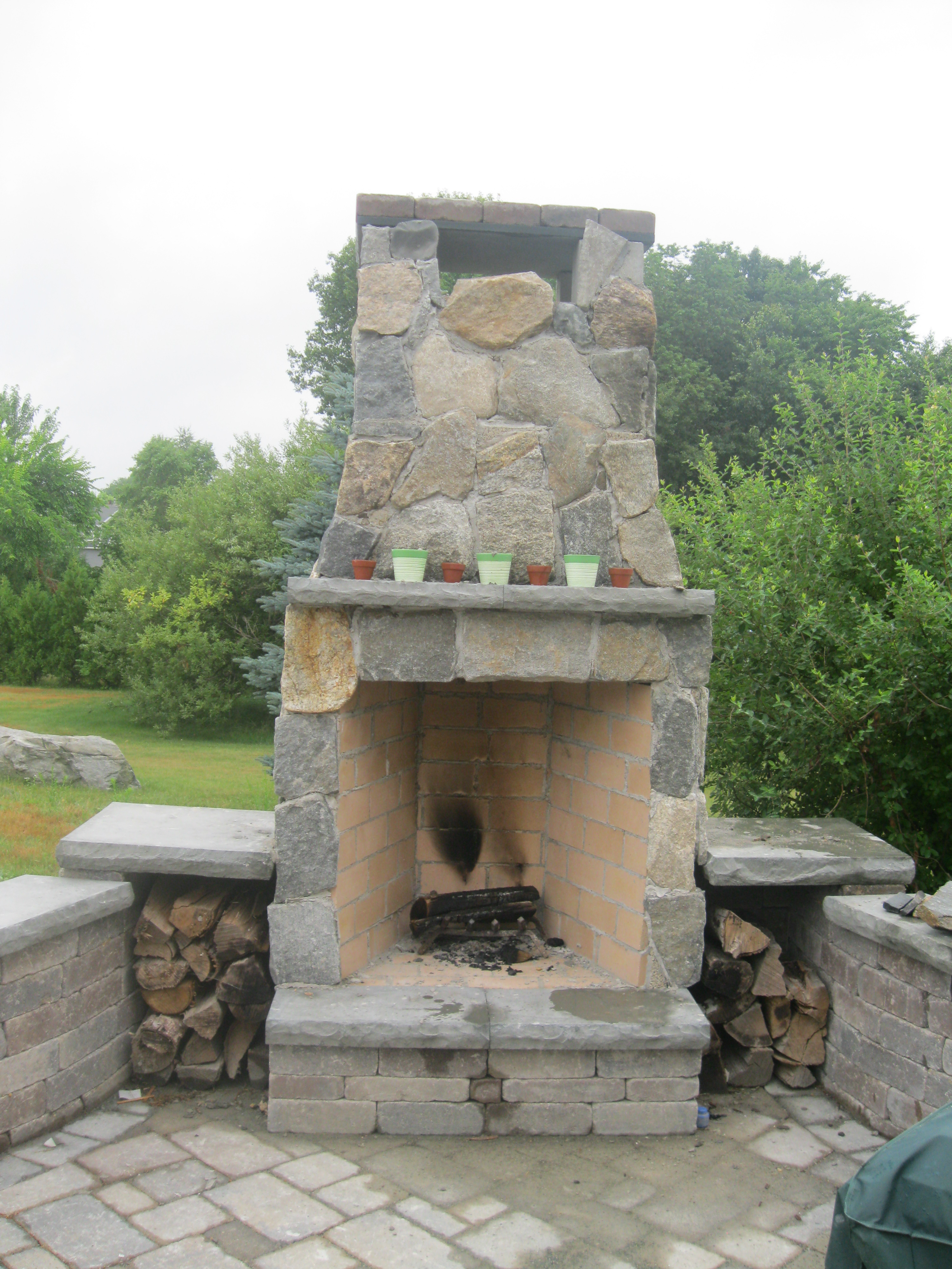 Camosse Masonry Supply, Massachusetts, Outdoor Fireplace