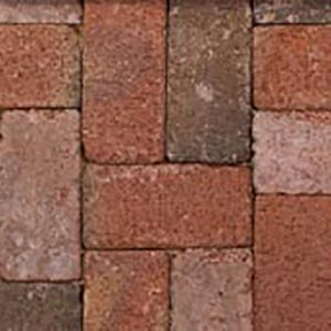 Canal Street Tumbled Paver, Clay, concrete pavers, landscaping products