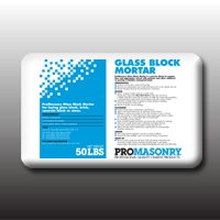 SUGGESTED USES For laying glass block, brick, concrete block or stone.