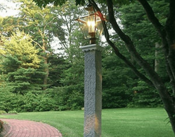 Granite Lamp posts, granite post and benches, stone, stone products