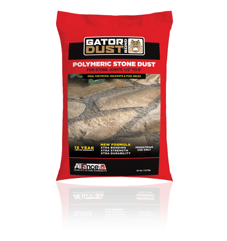 gator dust, sand and edging, concrete pavers, landscaping products
