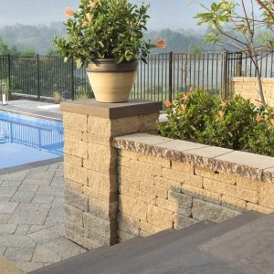 architectural cap, techo bloc caps, retaining wall systems, landscaping products