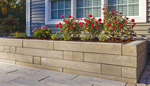 Borealis wall, techo bloc walls, retaining wall systems, landscaping products