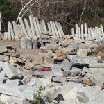 Salvaged granite, salvaged stone, stone products