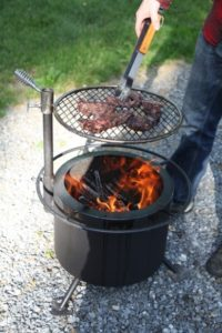 double flame smoke less fire pit, grills and inserts, fire pits, landscaping products