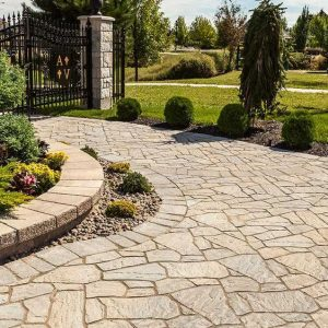 flagstone paver, techo bloc, concrete pavers, landscaping products