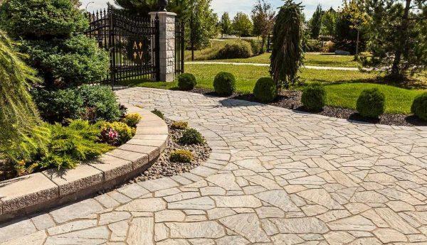 flagstone paver, techo bloc, concrete pavers, landscaping products