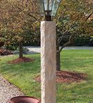 Golden Wheat Lamp Post, 3, granite post and benches, stone, stone products
