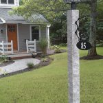 Granite Lamp Post Iron Bracket Sign, 4, granite post and benches, stone, stone products