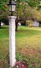 Granite Lamp post cap, 3, rock, granite post and benches, stone, stone products