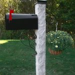 granite mailbox posts rock, granite post and benches, stone, stone products