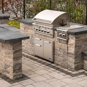 Grill Island, Techo Bloc, Fire pits, grills, inserts, landscaping products