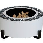 Luxeve smokeless fire pit, white, grills and inserts, fire pits, landscaping products