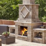 Manchester Foyer Fireplace, Techo Bloc, Fire pits, grills, inserts, landscaping products