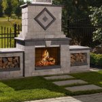 Manchester Foyer Fireplace 2, Techo Bloc, Fire pits, grills, inserts, landscaping products