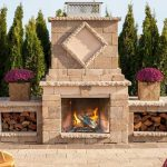 Manchester Foyer Fireplace 3, Techo Bloc, Fire pits, grills, inserts, landscaping products