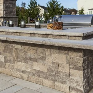mini creta architectural wall, techo bloc walls, retaining wall systems, landscaping products