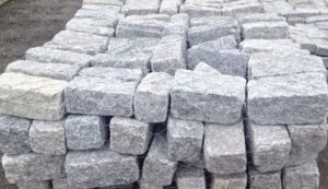 Cobblestone, Regulation Gray, edging and pavers, natural stone, stone products