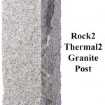 Rock2 Thermal2, granite post and benches, stone, stone products