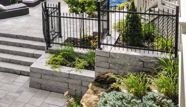 Rocka wall, techo bloc walls, retaining wall systems, landscaping products