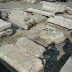 Salvaged granite steps and landings, salvaged stone, stone products, 4