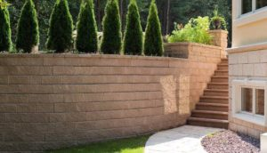 suprema wall, techo bloc walls, retaining wall systems, landscaping products