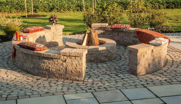 Valencia firepit, Techo Bloc, Fire pits, grills, inserts, landscaping products, 4