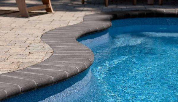 Bullnose Coping, concrete curbing and coping, pavers, landscaping products