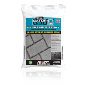 gator aqua rock, sand and edging, concrete pavers, landscaping products