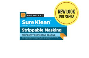 SureKlean Strippable Masking, ProSoCo, cleaning old and new masonry, masonry repair