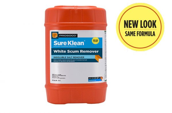 SureKlean white scum remover, ProSoCo, cleaning old and new masonry, masonry repair