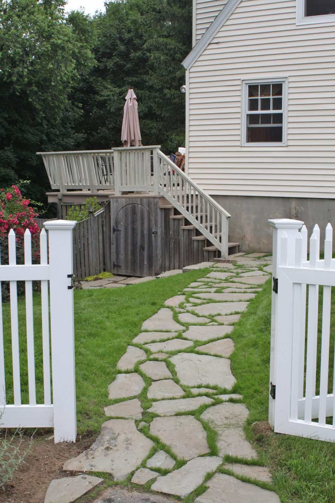 How to Lay a Path of Natural Stepping Stones