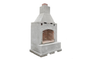 Small Precast Fireplace, Firepits, Grills, Inserts, Landscaping, 2