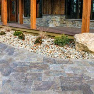 Provence Slab, concrete pavers, landscaping