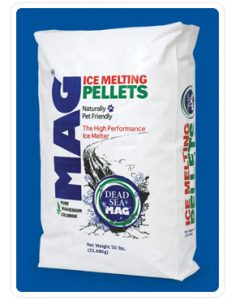 Mag, ice melt, landscaping