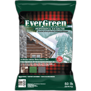 Evergreen, ice melt, landscaping