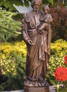 St. Joseph garden statue by Massarelli, religous, statuary