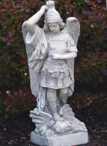 St. Michael garden statue by Massarelli, religious, statuary