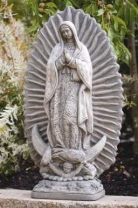 Our Lady of Guadalupe garden statue by Massarelli, religious, statuary