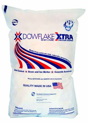 Dow Calcium Flakes, ice melt, landscaping
