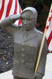 Army garden statue by Massarelli, armed forces, statuary
