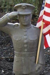 Marines garden statue by Massarelli, armed forces, statuary