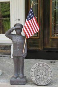 Coast Guard garden statue by Massarelli, armed forces, statuary