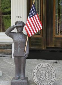 Coast Guard garden statue by Massarelli, armed forces, statuary
