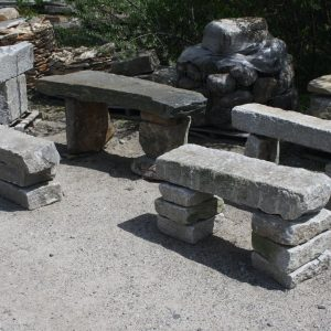 Camosse Stone Benches