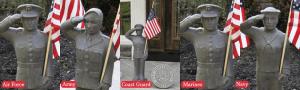 Massarelli Military Garden Statues