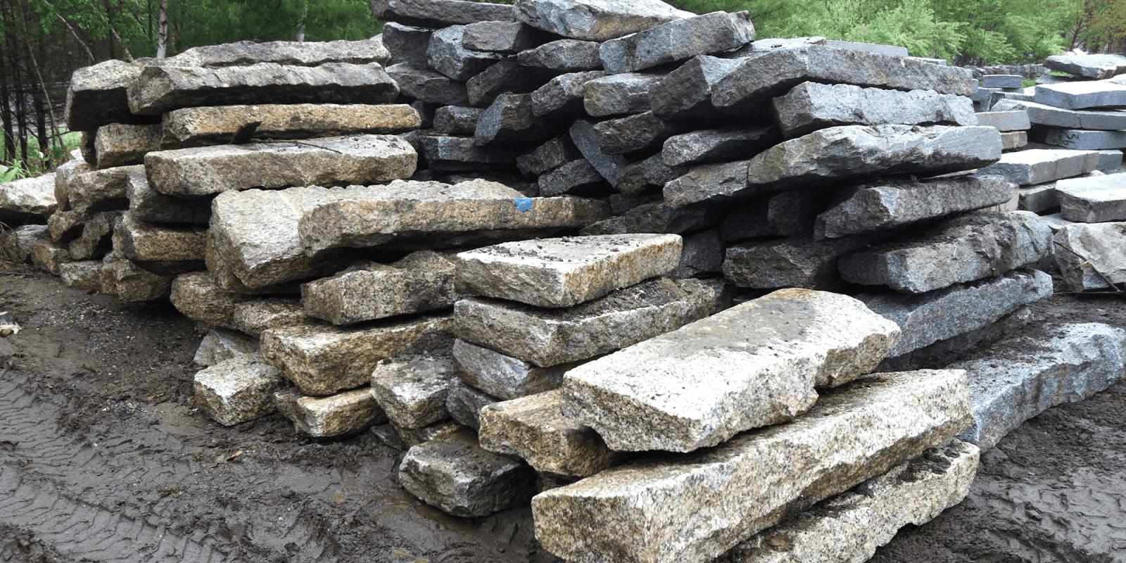 Relaimed Granite Curbing