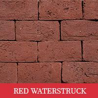 Red waterstruck paver brick