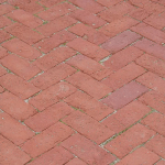 Red weathered paver