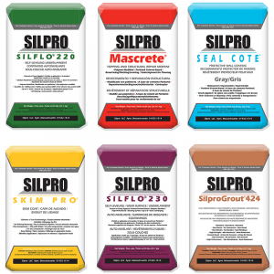 Silpro bagged masonry products